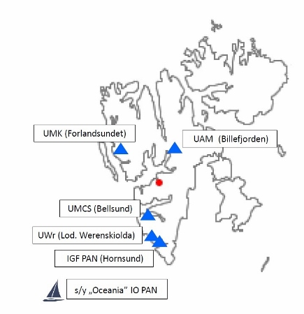 Obszary polskiej aktywności badawczej na Svalbardzie